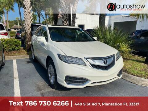 2017 Acura RDX for sale at AUTOSHOW SALES & SERVICE in Plantation FL