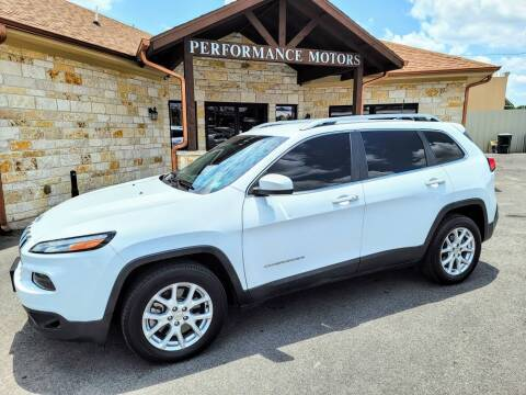 2018 Jeep Cherokee for sale at Performance Motors Killeen Second Chance in Killeen TX