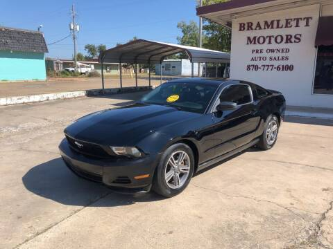 2012 Ford Mustang for sale at BRAMLETT MOTORS in Hope AR