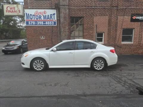 2012 Subaru Legacy for sale at Garys Motor Mart Inc. in Jersey Shore PA