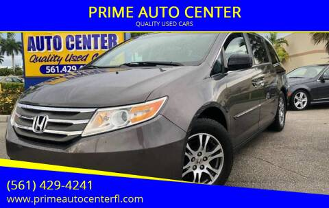 2012 Honda Odyssey for sale at PRIME AUTO CENTER in Palm Springs FL