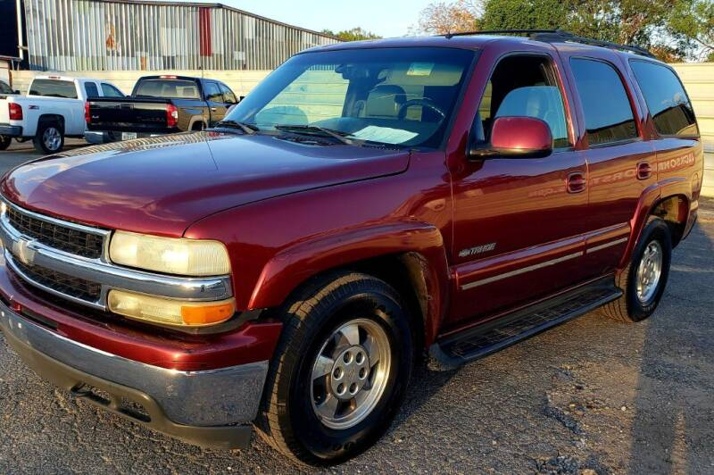 2002 Chevrolet Tahoe for sale at Jackson Motors Used Cars in San Antonio TX