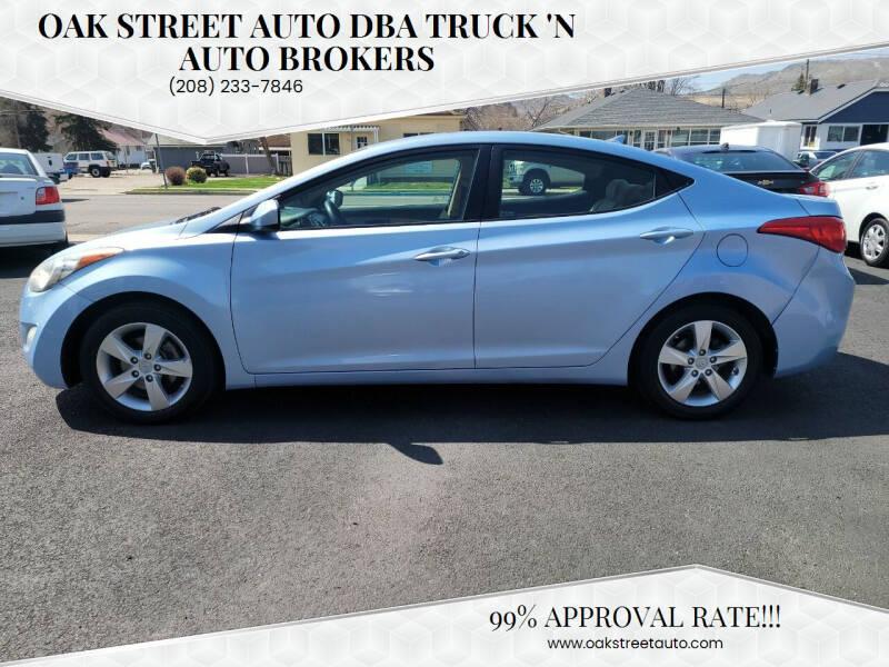 2012 Hyundai Elantra for sale at Oak Street Auto DBA Truck 'N Auto Brokers in Pocatello ID