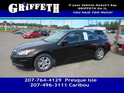 2012 Honda Accord for sale at Griffeth Mitsubishi - Pre-owned in Caribou ME