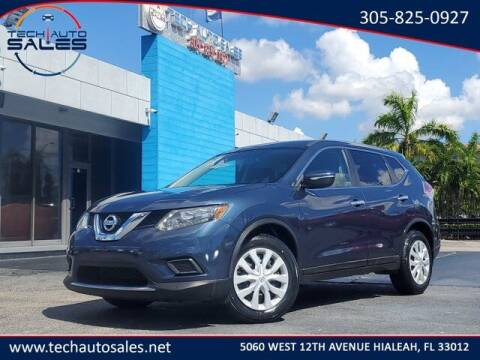 2015 Nissan Rogue for sale at Tech Auto Sales in Hialeah FL