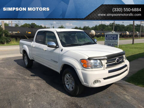 2004 Toyota Tundra for sale at SIMPSON MOTORS in Youngstown OH