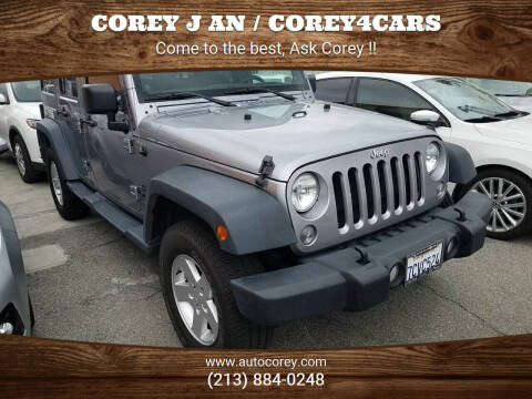 2014 Jeep Wrangler Unlimited for sale at WWW.COREY4CARS.COM / COREY J AN in Los Angeles CA