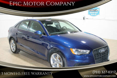 2015 Audi A3 for sale at Epic Motor Company in Chantilly VA