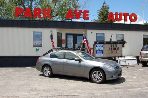 2013 Infiniti G37 Sedan for sale at Park Ave Auto Inc. in Worcester MA