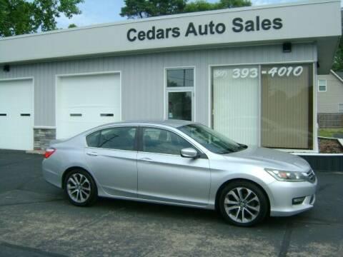 2014 Honda Accord for sale at Cedar Auto Sales in Lansing MI