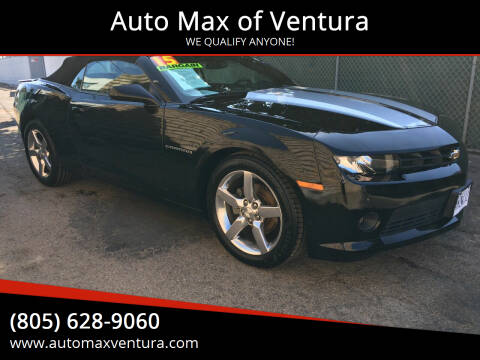 2015 Chevrolet Camaro for sale at Auto Max of Ventura in Ventura CA