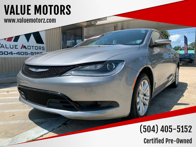 2016 Chrysler 200 for sale at VALUE MOTORS in Kenner LA