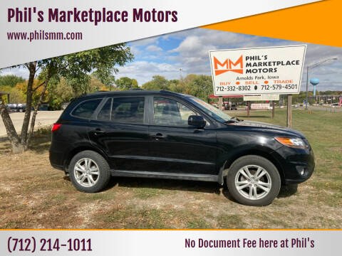 2010 Hyundai Santa Fe for sale at Phil's Marketplace Motors in Arnolds Park IA