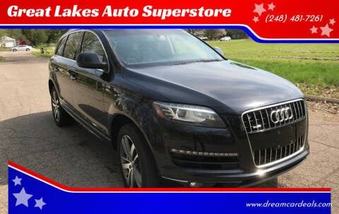 2012 Audi Q7 for sale at Great Lakes Auto Superstore in Pontiac MI