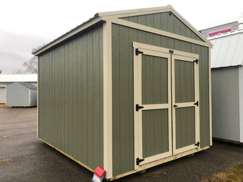 2021 premier 10x16 utility shed for sale at Triple R Sales in Lake City MN