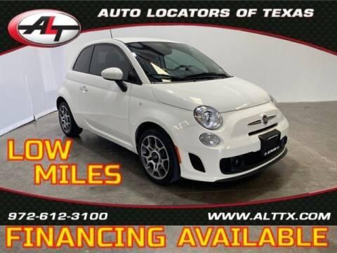 2018 FIAT 500 for sale at AUTO LOCATORS OF TEXAS in Plano TX