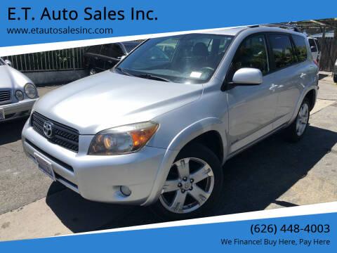2008 Toyota RAV4 for sale at E.T. Auto Sales Inc. in El Monte CA