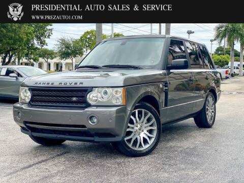 2009 Land Rover Range Rover for sale at Presidential Auto  Sales & Service in Delray Beach FL