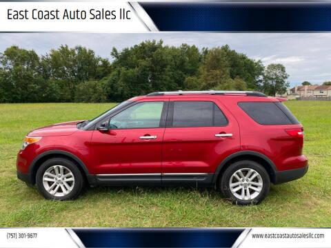 2013 Ford Explorer for sale at East Coast Auto Sales llc in Virginia Beach VA