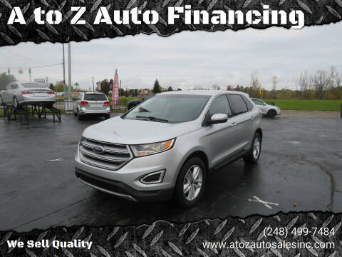 2016 Ford Edge for sale at A to Z Auto Financing in Waterford MI