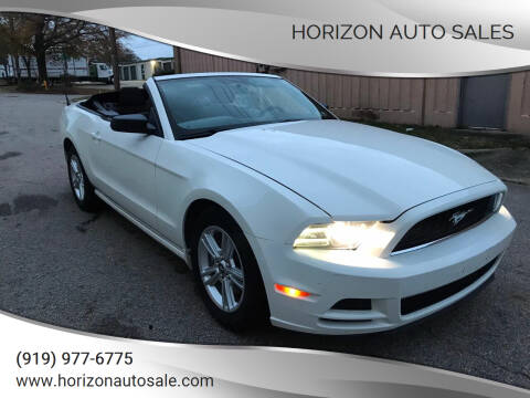 2013 Ford Mustang for sale at Horizon Auto Sales in Raleigh NC