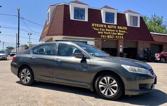 2014 Honda Accord for sale at Steve's Auto Sales in Norfolk VA