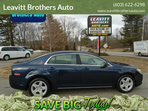 2010 Chevrolet Malibu for sale at Leavitt Brothers Auto in Hooksett NH