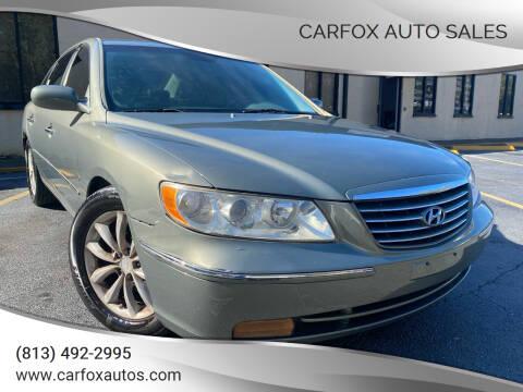 2007 Hyundai Azera for sale at Carfox Auto Sales in Tampa FL