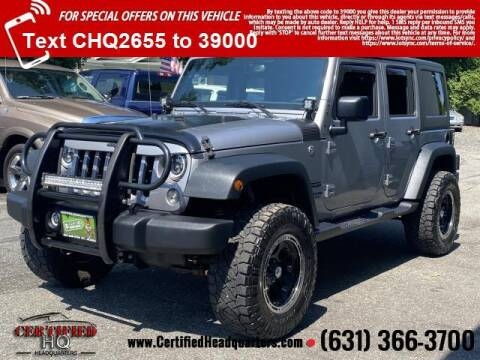 2016 Jeep Wrangler Unlimited for sale at CERTIFIED HEADQUARTERS in Saint James NY