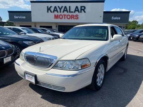 2007 Lincoln Town Car for sale at KAYALAR MOTORS in Houston TX