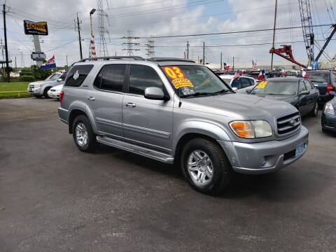 2003 Toyota Sequoia for sale at Texas 1 Auto Finance in Kemah TX