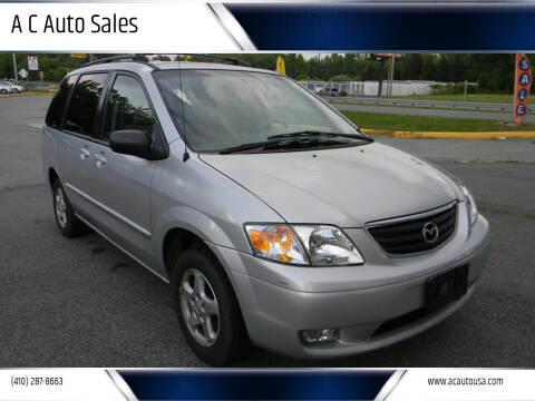 2000 Mazda MPV for sale at A C Auto Sales in Elkton MD