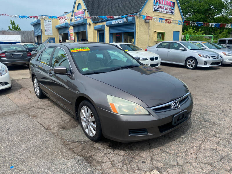 2007 Honda Accord for sale at Polonia Auto Sales and Service in Hyde Park MA