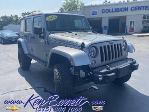 2018 Jeep Wrangler JK Unlimited for sale at KEN BARRETT CHEVROLET CADILLAC in Batavia NY