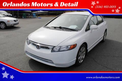 2008 Honda Civic for sale at Orlandos Motors & Detail in Winston Salem NC
