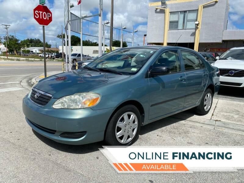 2007 Toyota Corolla for sale at Global Auto Sales USA in Miami FL