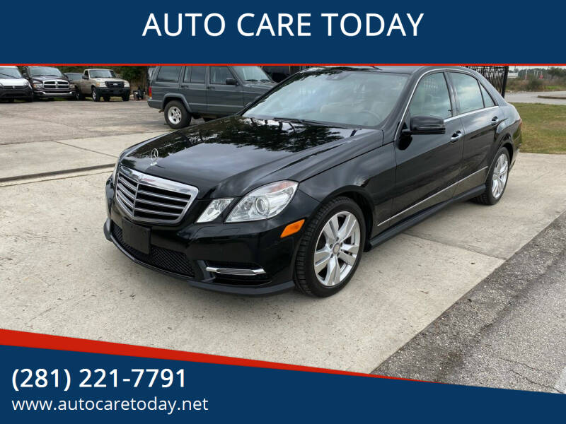 2013 Mercedes-Benz E-Class for sale at AUTO CARE TODAY in Spring TX