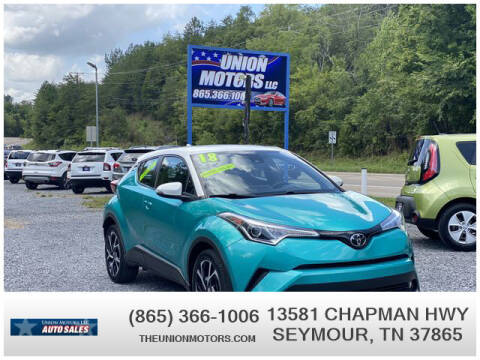 2018 Toyota C-HR for sale at Union Motors in Seymour TN