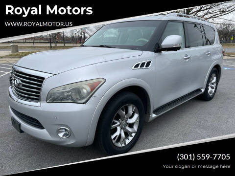2011 Infiniti QX56 for sale at Royal Motors in Hyattsville MD