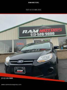 2014 Ford Focus for sale at RAM MOTORS in Cincinnati OH