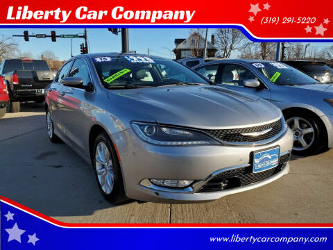 2015 Chrysler 200 for sale at Liberty Car Company in Waterloo IA