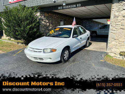 2004 Chevrolet Cavalier for sale at Discount Motors Inc in Old Hickory TN