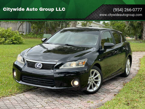 2012 Lexus CT 200h for sale at Citywide Auto Group LLC in Pompano Beach FL
