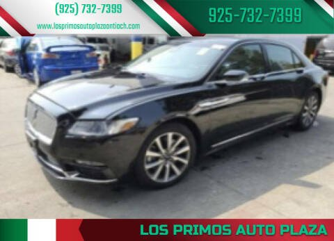 2017 Lincoln Continental for sale at Los Primos Auto Plaza in Antioch CA