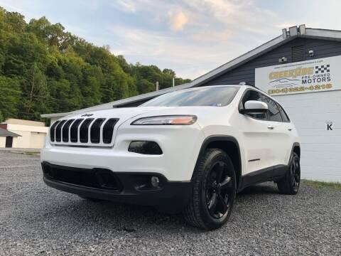 2018 Jeep Cherokee for sale at Creekside PreOwned Motors LLC in Morgantown WV
