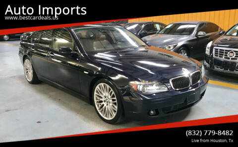 2007 BMW 7 Series for sale at Auto Imports in Houston TX