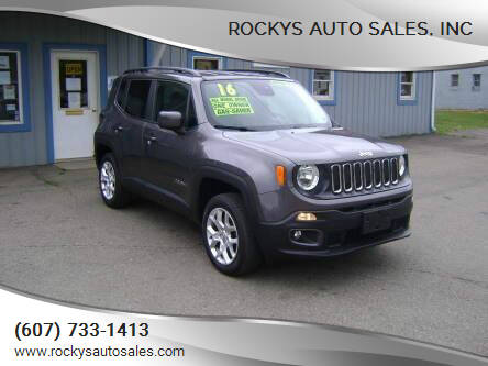 2016 Jeep Renegade for sale at Rockys Auto Sales, Inc in Elmira NY