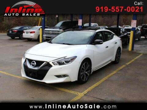 2017 Nissan Maxima for sale at Inline Auto Sales in Fuquay Varina NC