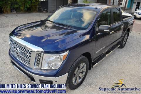 2018 Nissan Titan for sale at Supreme Automotive in Land O Lakes FL