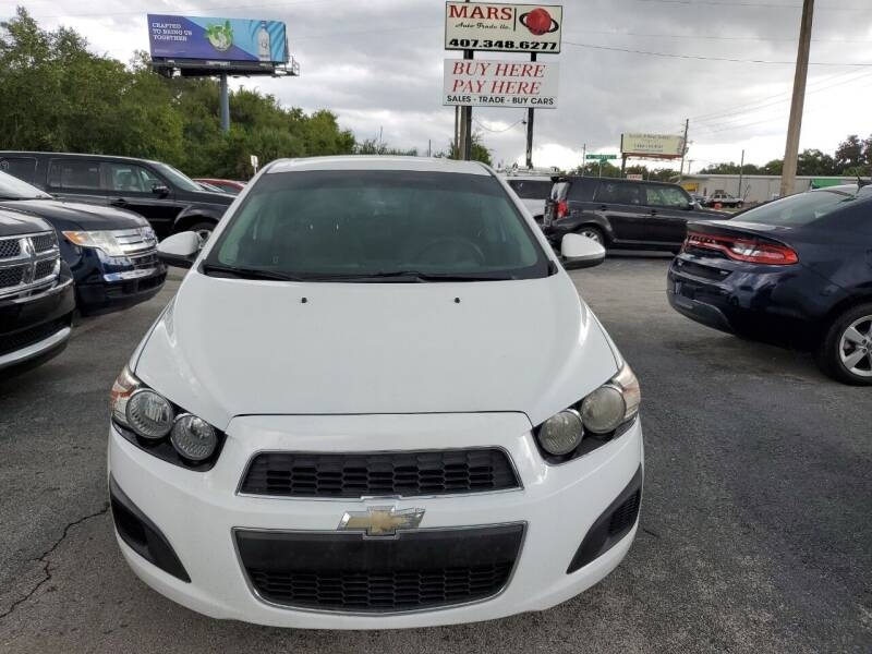 2012 Chevrolet Sonic for sale at Mars auto trade llc in Kissimmee FL